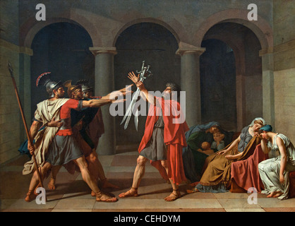 Oath of the Horatii Le Serment des Horace Jacques Louis David 1784 France French - Stock Photo