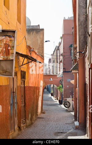 Sidestreet in the Medina district, Marrakech, Morocco, North Africa - Stock Photo
