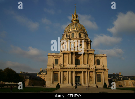 Golden Dome Of The Church At Les Invalides, Paris - Stock Photo