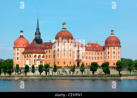 Moritzburg castle near Dresden. - Stock Photo