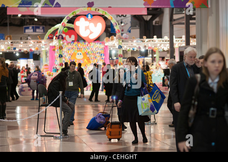 The 109th American International Toy Fair in the Jacob Javits Convention center in New York - Stock Photo