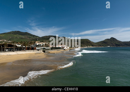 Porto Santo beach, Portugal - Stock Photo