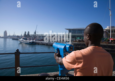 Victoria and Alfred Waterfront,Cape Town,Western Cape Province - Stock Photo