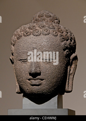 Jina Candi Borobudur Central Java 7 - 9 century  Andesite Indonesia - Stock Photo