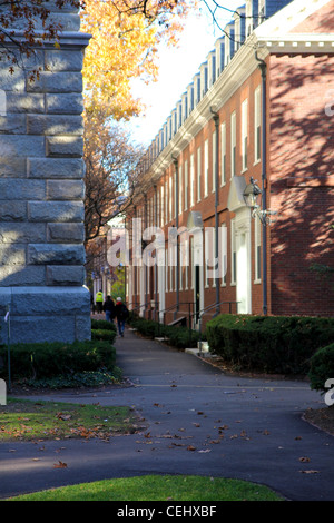 A small alley between Boylston Hall and the dorm building Wigglesworth on the Campus of Harvard University, Cambridge, - Stock Photo