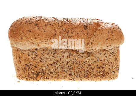 Rustic multigrain seeded wholemeal loaf - Stock Photo