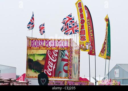 Fast Food Burger Stall Stalls - Stock Photo