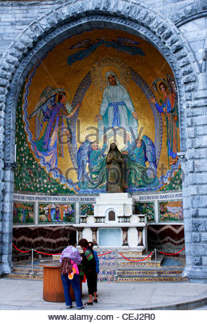 Lourdes An outside chapel.The Sanctuaries of Lourdes Hautes-Pyrenees France - Stock Photo