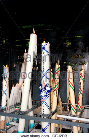 Lourdes The Sanctuaries of Lourdes Hautes-Pyrenees Candles burning - Stock Photo