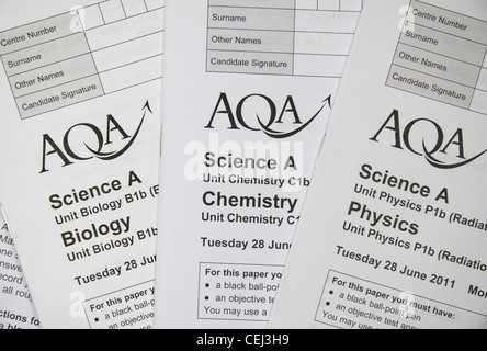 Close up the Biology, Chemistry & Physics Additional Science ...