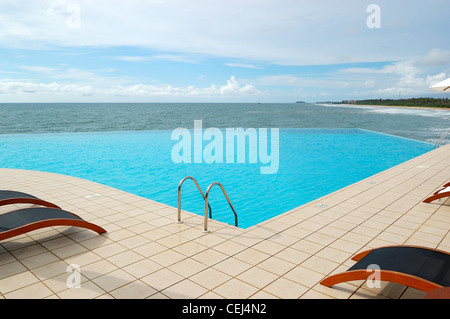 The sea view swimming pool, Bentota, Sri Lanka - Stock Photo