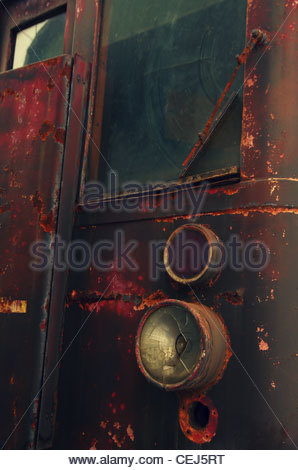 Detail of an Old Locomotive - Stock Photo