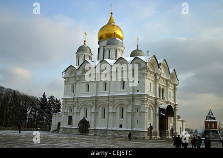 The Cathedral of the Archangel is located in Cathedral Square of the Moscow Kremlin in Russia - Stock Photo