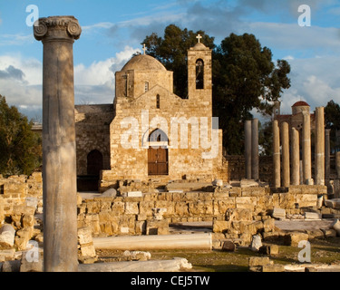 CY - KATO PAPHOS: Ayia Kyriaki Church and location of St. Paul's Pillar (not in picture) - Stock Photo