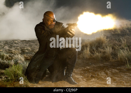 Nick Fury and the international agency S.H.I.E.L.D. bring together a team of super humans to form The Avengers. - Stock Photo