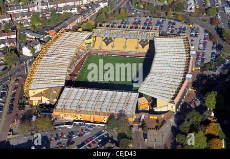 Aerial image of Wolverhampton Wanderers FC Molineux Stadium football ground Stock Photo