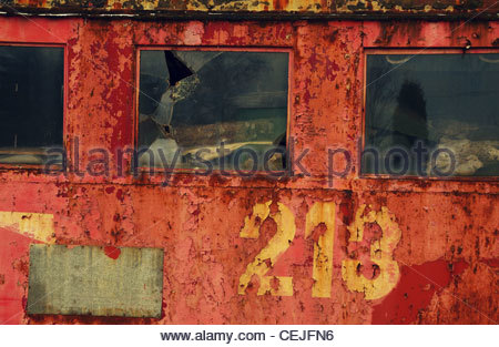 Detail of an Old Discarded Train - Stock Photo