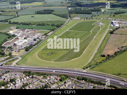 Aerial image of Wetherby Racecourse, West Yorkshire - Stock Photo