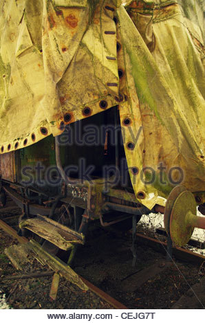Discarded Train - Stock Photo