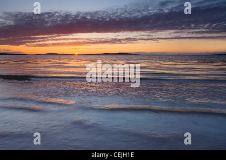 Sunset from the Sands of Mussetter on the island of Eday, Orkney Islands, Scotland. - Stock Photo