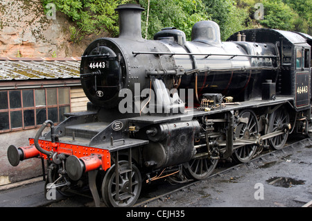 Ivatt Class 2MT, 2-6-0 at Bewdley station on the Severn Valley Railway - Stock Photo