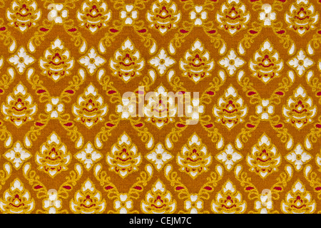 pattern on the thai cloth texture of general traditional thai style native - Stock Photo