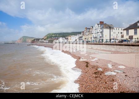 England Devon Sidmouth Beach - Stock Photo