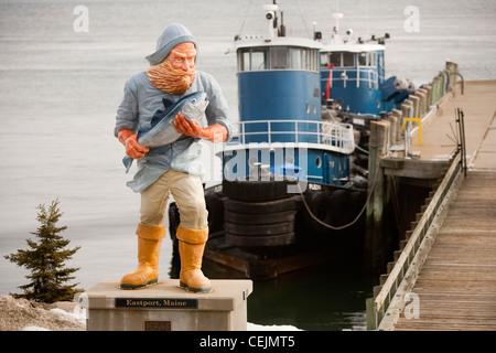 Coastal life in Maine. - Stock Photo