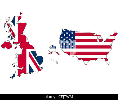 UK And USA Flag Stock Photo Royalty Free Image Alamy - Map of us and uk