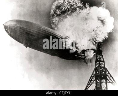 Hindenburg disaster - Stock Photo