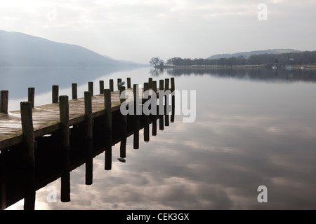 An overcast day on Coniston in the English Lake District National Park - Stock Photo