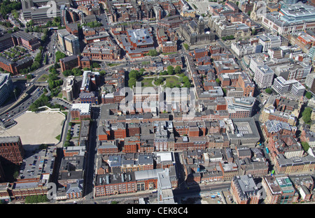 Aerial image of Leeds city centre - Stock Photo