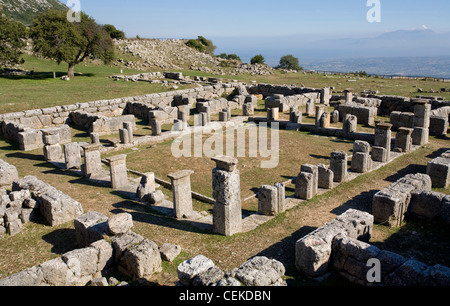 Kassope founded beginning 4th century BC possibly consolidation smaller rural villages splendid example city based - Stock Photo