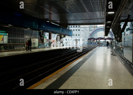 Heron Quay's DLR station, Isle of Dogs - Stock Photo