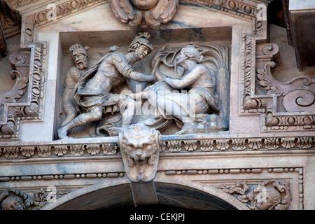 Italy, Milan, Milan Cathedral, Windows Stock Photo