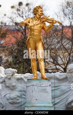 Johann Strauss Statue, Vienna Stadtpark, Austria - Stock Photo
