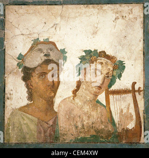 Naples, Naples National Archeological Museum, from Pompeii, Fresco - Stock Photo