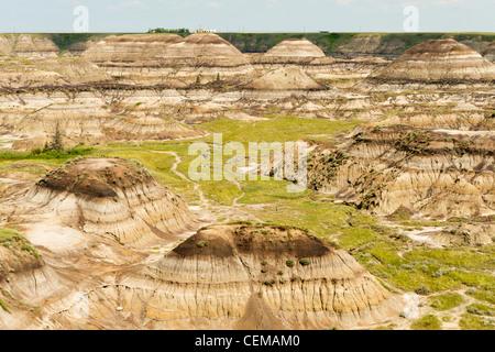 Horseshoe Canyon, in the Alberta badlands, near Drumheller, Alberta, Canada - Stock Photo