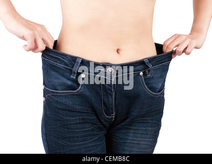 successful weight loss - Stock Photo