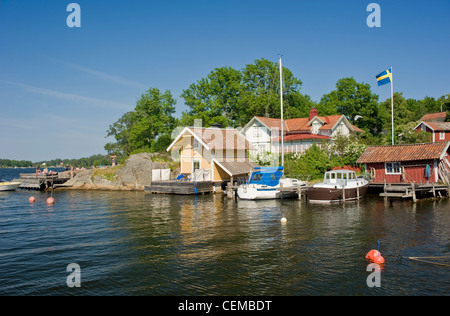 Vaxholm - a small municipality east of Stockholm, Sweden. - Stock Photo