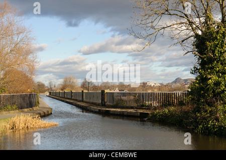 Slateford Aqueduct on The Union Canal, Edinburgh. - Stock Photo