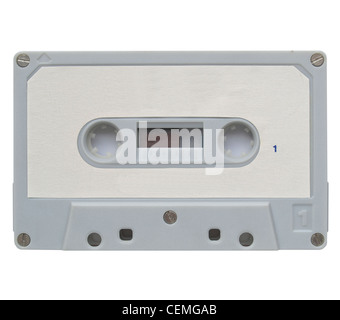 A magnetic audio tape cassette for music recording - Stock Photo