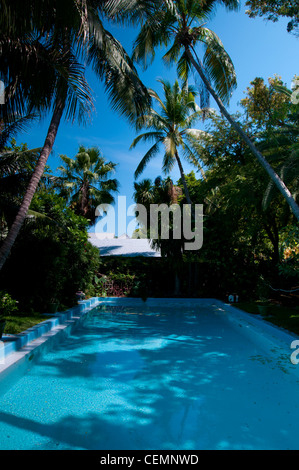 Pool in Ernest Hemingway home and museum, Key West, Florida - Stock Photo