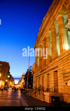 WASHINGTON DC, USA - Exterior of the Smithsonian David W. Reynolds Center for American Art and Portraiture in downtown - Stock Photo