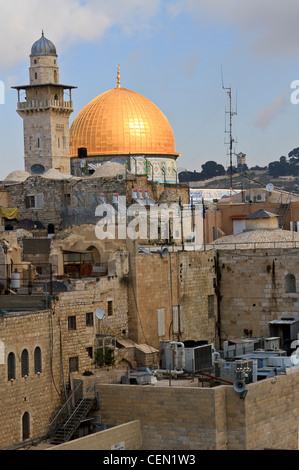 Dome of the Rock, famous Islamic site in Jerusalem - Stock Photo
