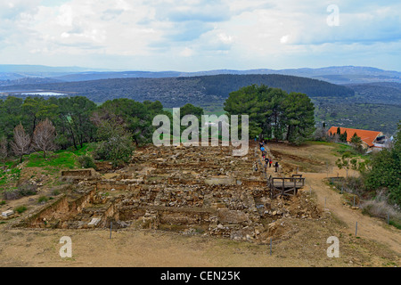 Overview of excavations at Zippori National Park in the Lower Galilee of Israel. - Stock Photo