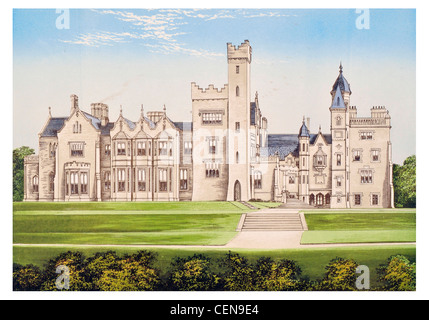 Rossmore Park Monaghan Ireland Gothic demolished Mansion Manor House Stately Home Hall Palace Estate Castle Landscaped - Stock Photo