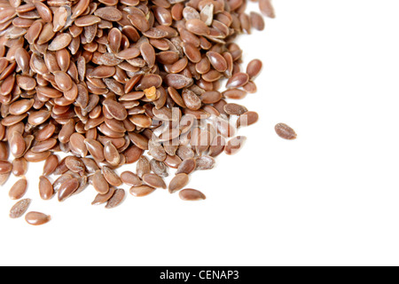 Delicious and healthy flax seeds - Stock Photo
