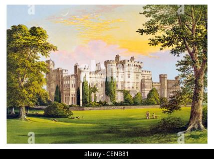 New Hawarden Castle Flintshire Wales UK British Prime Minister William Ewart Gladstone estate private residence - Stock Photo