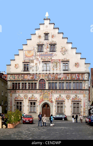 Old city hall of Lindau in Lake Constance. - Stock Photo